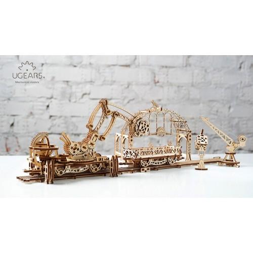 Medinis konstruktorius UGEARS Rail Mounted Manipulator Model