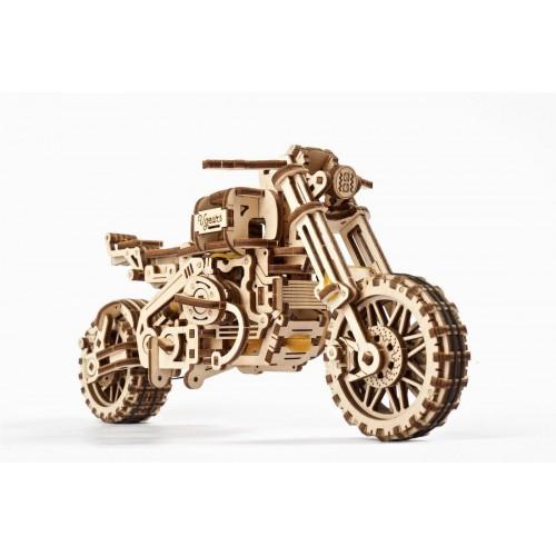 Medinis konstruktorius UGEARS Motociklas su lopšiu